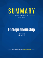 Entrepreneurship.com (Review and Analysis of Burns' Book)