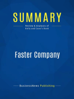 Faster Company (Review and Analysis of Kelly and Case's Book)