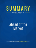 Ahead of the Market (Review and Analysis of Zacks' Book)