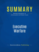 Executive Warfare (Review and Analysis of d'Alessandro and Owens' Book)