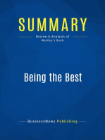 Being the Best (Review and Analysis of Waitley's Book)
