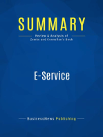 E-Service (Review and Analysis of Zemke and Connellan's Book)