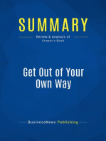 Get Out of Your Own Way (Review and Analysis of Cooper's Book)