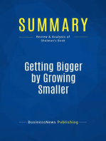 Getting Bigger by Growing Smaller (Review and Analysis of Shulman's Book)