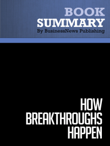 Summary: How Breakthroughs Happen: Review and Analysis of Hargadon's Book
