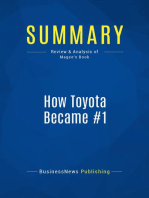 How Toyota Became #1 (Review and Analysis of Magee's Book)