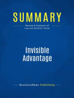 Invisible Advantage (Review and Analysis of Low and Kalafut's Book)