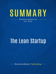The Lean Startup (Review and Analysis of Ries' Book)
