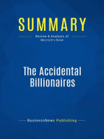 The Accidental Billionaires (Review and Analysis of Mezrich's Book)