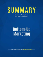Bottom-Up Marketing (Review and Analysis of Ries and Trout's Book)
