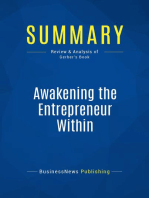 Awakening the Entrepreneur Within (Review and Analysis of Gerber's Book)