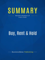 Buy, Rent & Hold (Review and Analysis of Irwin's Book)