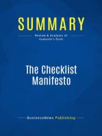 The Checklist Manifesto (Review and Analysis of Gawande's Book)
