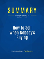 How to Sell When Nobody's Buying (Review and Analysis of Lakhani's Book)