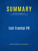 Full Frontal PR (Review and Analysis of Laermer and Prichinello's Book)