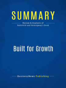 Built for Growth (Review and Analysis of Rubinfeld and Hemingway's Book)