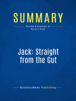 Jack, Straight from the Gut (Review and Analysis of Byrne's Book)