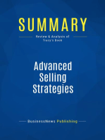 Advanced Selling Strategies (Review and Analysis of Tracy's Book)
