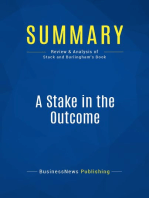 A Stake in the Outcome (Review and Analysis of Stack and Burlingham's Book)
