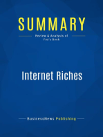 Internet Riches (Review and Analysis of Fox's Book)