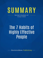 The 7 Habits of Highly Effective People (Review and Analysis of Covey's Book)