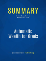 Automatic Wealth for Grads (Review and Analysis of Masterson's Book)