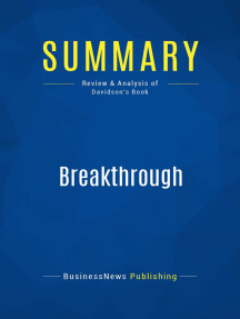 Breakthrough (Review and Analysis of Davidson's Book)