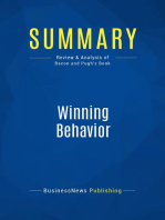 Winning Behavior (Review and Analysis of Bacon and Pugh's Book)