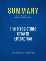 The Irresistible Growth Enterprise (Review and Analysis of Mitchell and Coles' Book)