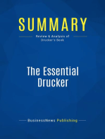 The Essential Drucker (Review and Analysis of Drucker's Book)