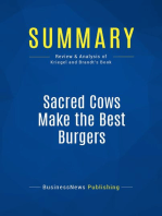 Sacred Cows Make the Best Burgers (Review and Analysis of Kriegel and Brandt's Book)