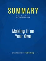 Making It on Your Own (Review and Analysis of the Edwardses' Book)