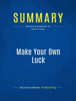 Make Your Own Luck (Review and Analysis of Kash's Book)