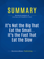 It's Not the Big That Eat the Small … It's the Fast That Eat the Slow (Review and Analysis of Jennings and Haughton's Book)
