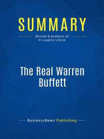 The Real Warren Buffett (Review and Analysis of O'Loughlin's Book)