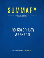The Seven-Day Weekend (Review and Analysis of Semler's Book)