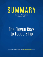 The Eleven Keys to Leadership (Review and Analysis of Smith's Book)