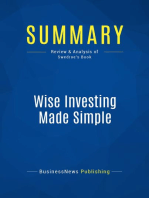 Wise Investing Made Simple (Review and Analysis of Swedroe's Book)