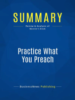 Practice What You Preach (Review and Analysis of Maister's Book)