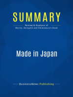 Made in Japan (Review and Analysis of Morita, Reingold and Shimomura's Book)
