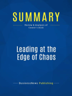 Leading at the Edge of Chaos (Review and Analysis of Conner's Book)