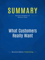 What Customers Really Want (Review and Analysis of McKain's Book)