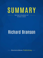 Richard Branson (Review and Analysis of Brown's Book)