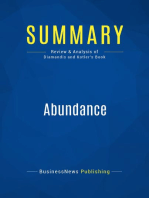 Abundance (Review and Analysis of Diamandis and Kotler's Book)