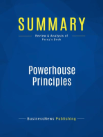 Powerhouse Principles (Review and Analysis of Perez's Book)