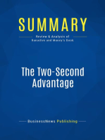 The Two-Second Advantage (Review and Analysis of Ranadive and Maney's Book)