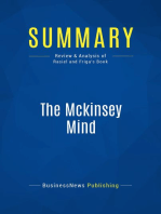 The Mckinsey Mind (Review and Analysis of Rasiel and Friga's Book)