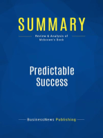 Predictable Success (Review and Analysis of Mckeown's Book)