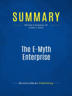 The E-Myth Enterprise (Review and Analysis of Gerber's Book)