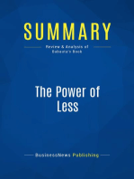 The Power of Less (Review and Analysis of Babauta's Book)